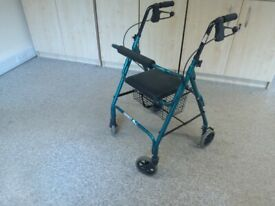 Mobility walker with seat & basket