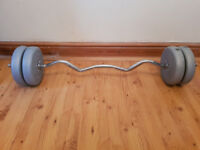 Preacher Curl, Dumbbells and free weights