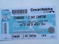 Creamfields Standard camping ticket Sat/Sun + return bus travel from Glasgow