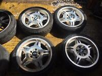 "17"" BMW MSPORT E36 M3 E46 ALLOY WHEELS SET OF 4 COMPACT"