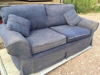 Sofa in Blue very comfortable.