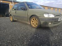 Peugeot 106 1.5 diesel Gti rep MOT march 18 not saxo ford citreon nissan vauxhall kx yz RM
