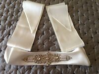 Decorative bridal sash