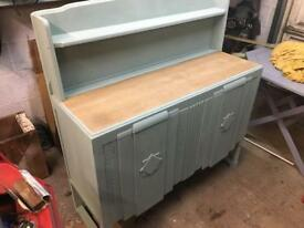 Oak Annie Sloan painted ornate sideboard