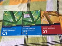 Textbooks For Edexcel AS Maths C1, C2 and S1