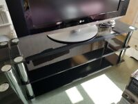 Glass TV stand and matching nest of tables