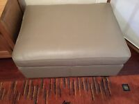 Ikea leather chair with free matching footstool with storage, great condition priced to go asap.!!