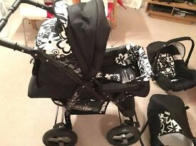 ***BRAND NEW*** Pram pushchair stroller 3 in 1 + car seat + carrycot