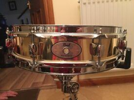Pearl brass piccolo snare drum