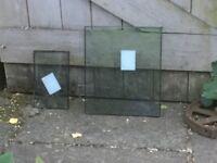 Doubled glazed glass window panels