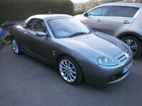2002 MG TF convertible, 1.8 petrol, metallic grey with removable hard-top. Mot until 23/04/18