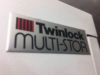 Twinlock tall vertical tambour cabinet