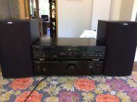 HiFi Separates Set: Denon CD Player, Denon Amplifier, B&W Speakers, High quality copper cable