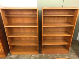 Pair of solid teak Gplan bookcases