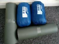 Sleeping bag with mats
