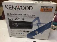 KENWOOD KDC-4551UB CD-Receiver + USB PORT INTERFACE CAR AUDIO BASS STEREO CD PLAYER SINGLE DIN
