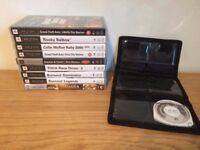 8 PlayStation Portable (PSP) Games (AND 2 FILMS)
