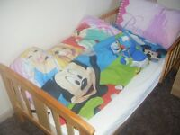 Wooden Junior bed with Accessories