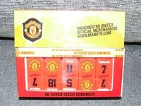 MANCHESTER UNITED 28 SUPERSIZED DOMINOES - **EXCELLENT CONDITION** NEVER USED**