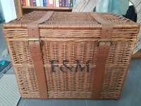 Fortnum & mason extra large hamper laundry basket coffee table
