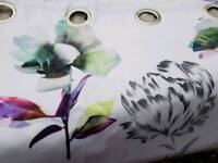 Next cotton sateen blackout lined eyelet floral curtains
