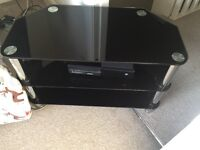 Excellent condition black glass tv stand