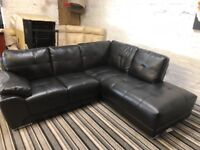 Black corner sofa only 10 months comfy nice smart