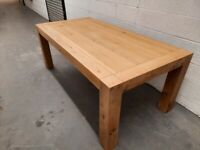 NEW (minor damage) Harveys Lindos Oak Dining Table RRP £699