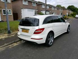 Mercedes R Class heavily loaded including private plate