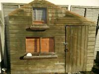 8 x 6 ft Wendy House/summer house/shed. 2 storey.