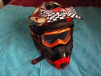 mx helmet .bike .crosser. pitbike