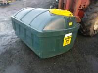 Bunded 1200 waste engine oil storage tank suit farm plant hire garage mechanic tractor