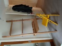 Wall leaning Oak desk from The Futon Shop