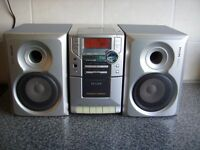 Phillips MC-110 Micro Hifi System With Speakers Good Condition