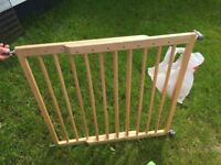 Fitted wooden baby gate