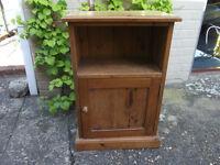 Bedside cabinet, antique pine