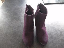 Purple ankle boots size 5