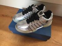 K-Swiss Silver Holographic Trainers - Brand New In Box! Size 4.5