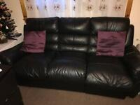 Two recliner sofas