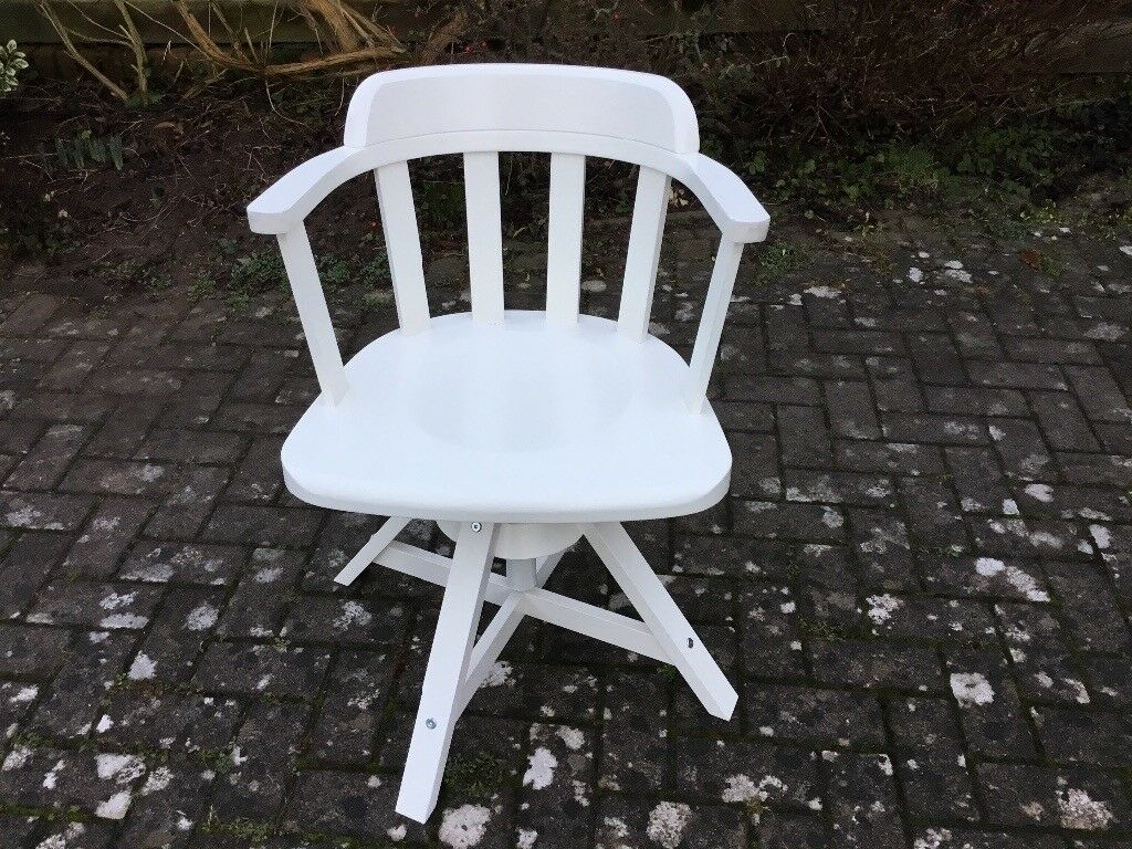 Ikea Feodor White Wood Swivel Chair In Stoke Bishop