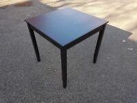 Ikea Black/Brown Square Dining Table 74cm FREE DELIVERY 217