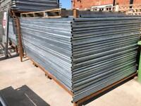 🚨New Round Top Heras * Temporary Security Fencing Sets * X 35