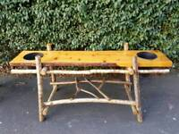 Willow and Knotted Pine Bench