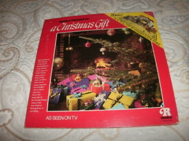 "RONCO PRESENTS-""A CHRISTMAS GIFT""-12' VINYL LP,WITH POP-UP. XMAS SCENE-(EX+/EX+)"