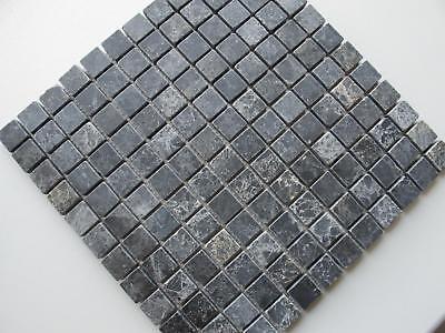 Mosaiknetz Mosaiksteine Steinmosaik Naturstein Marmor Black Marble Wohnrausch
