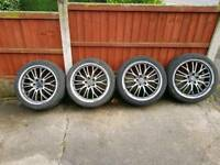 Vw 18inch alloys good tyres