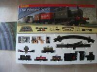 Hornby western spirit train set.