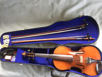 Full sized violin setup and ready to play