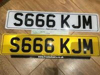 S666 KJM private cherished personalised personal registration plate number