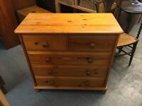 PINE CHEST OF DRAWERS IDEAL TO SAND OR PAINT